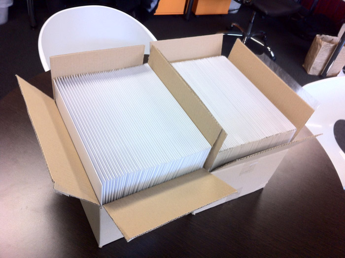 Boxes of Yoke workbooks