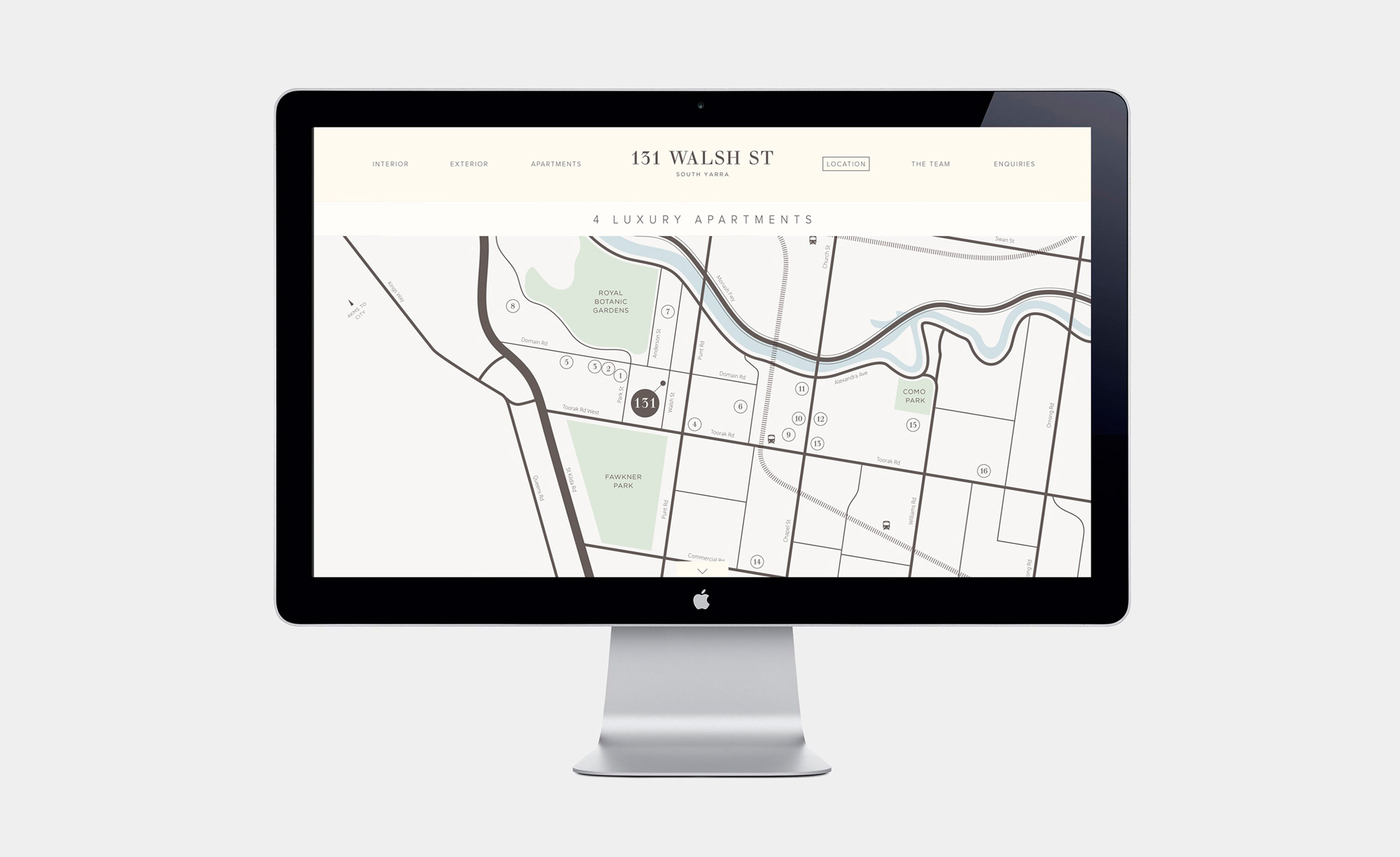 Map on the 131 Walsh Street website