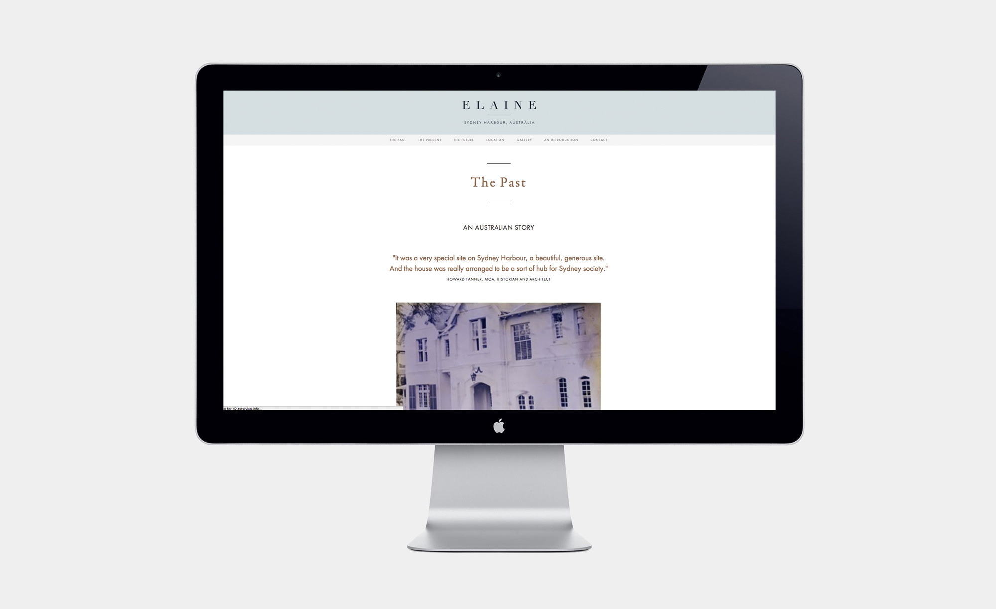 History page on the Christie's Real Estate Elaine website