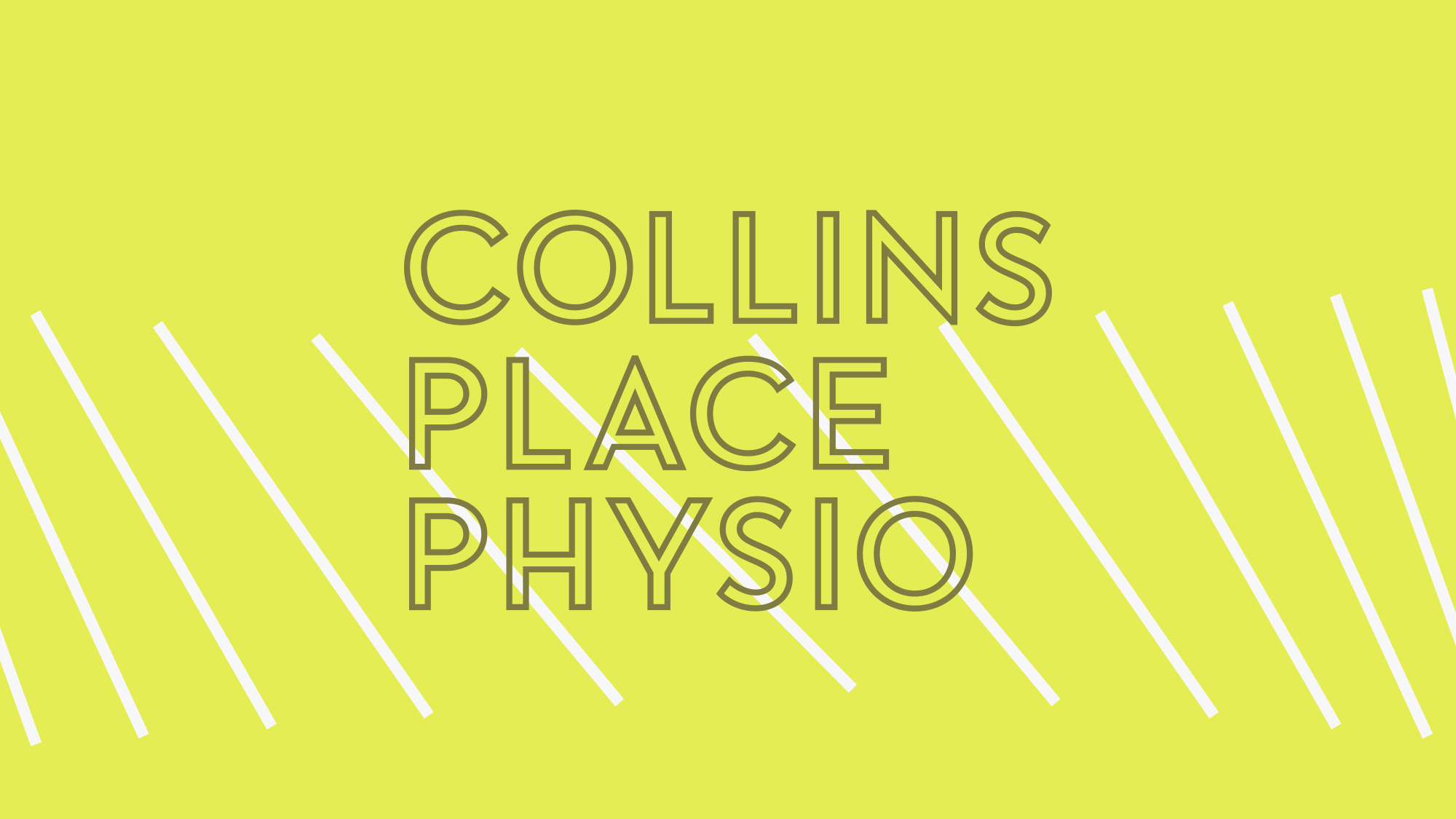Lines in the Collins Place Physio brandmark