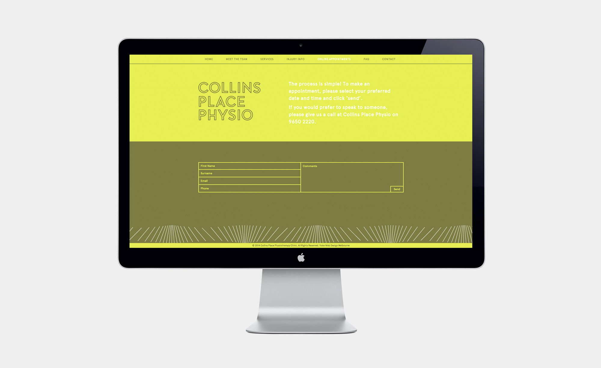 Collins Place Physio contact form