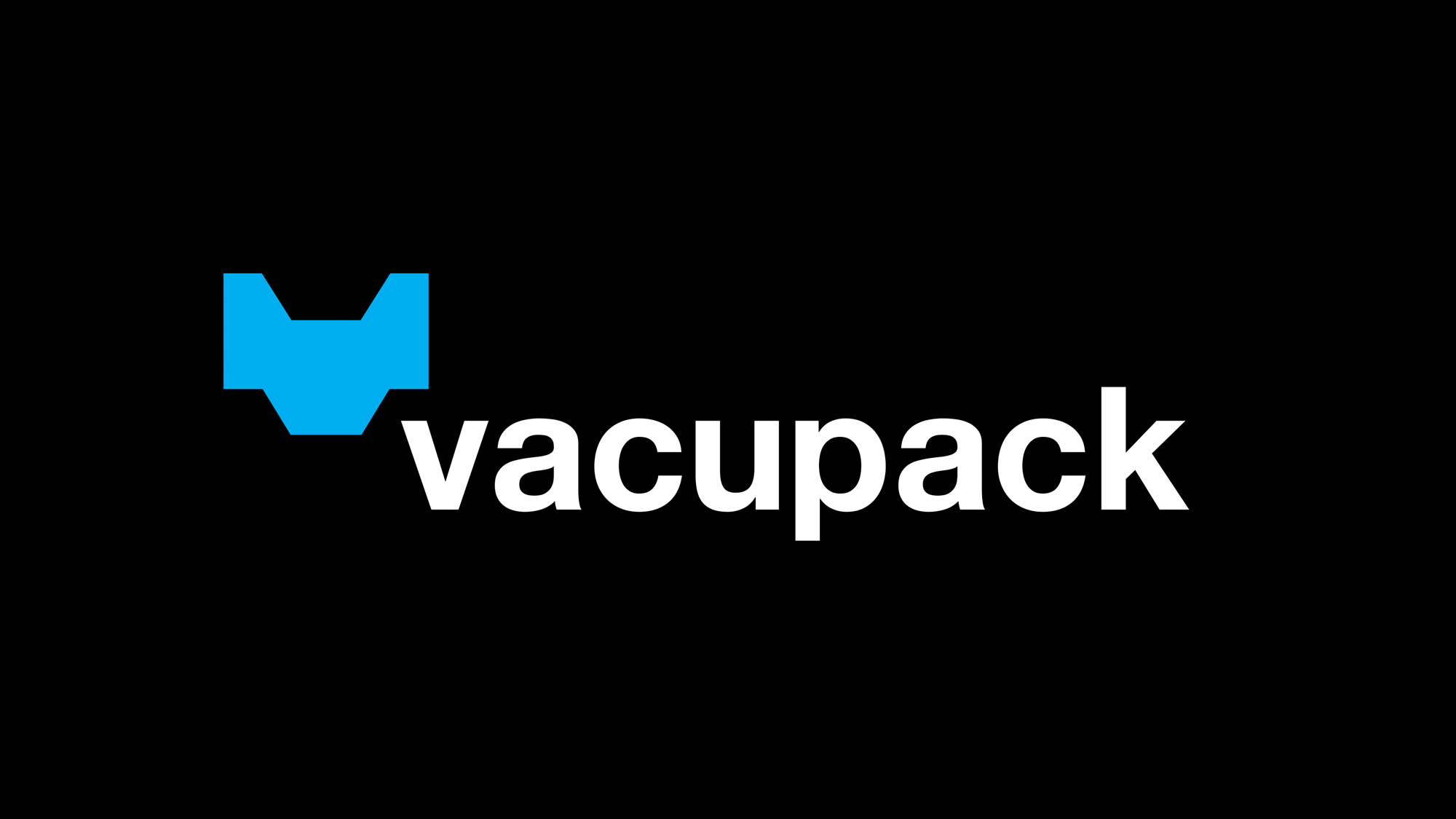 Vacupack logo on black background