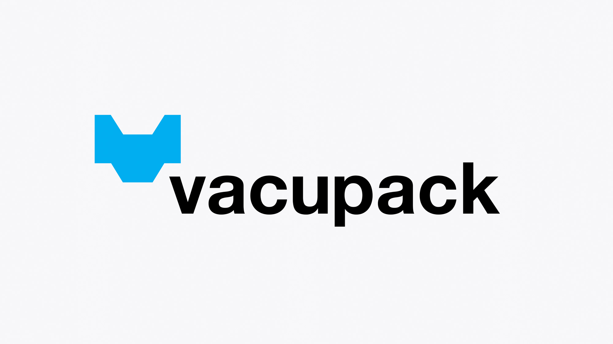 Vacupack brandmark with white background