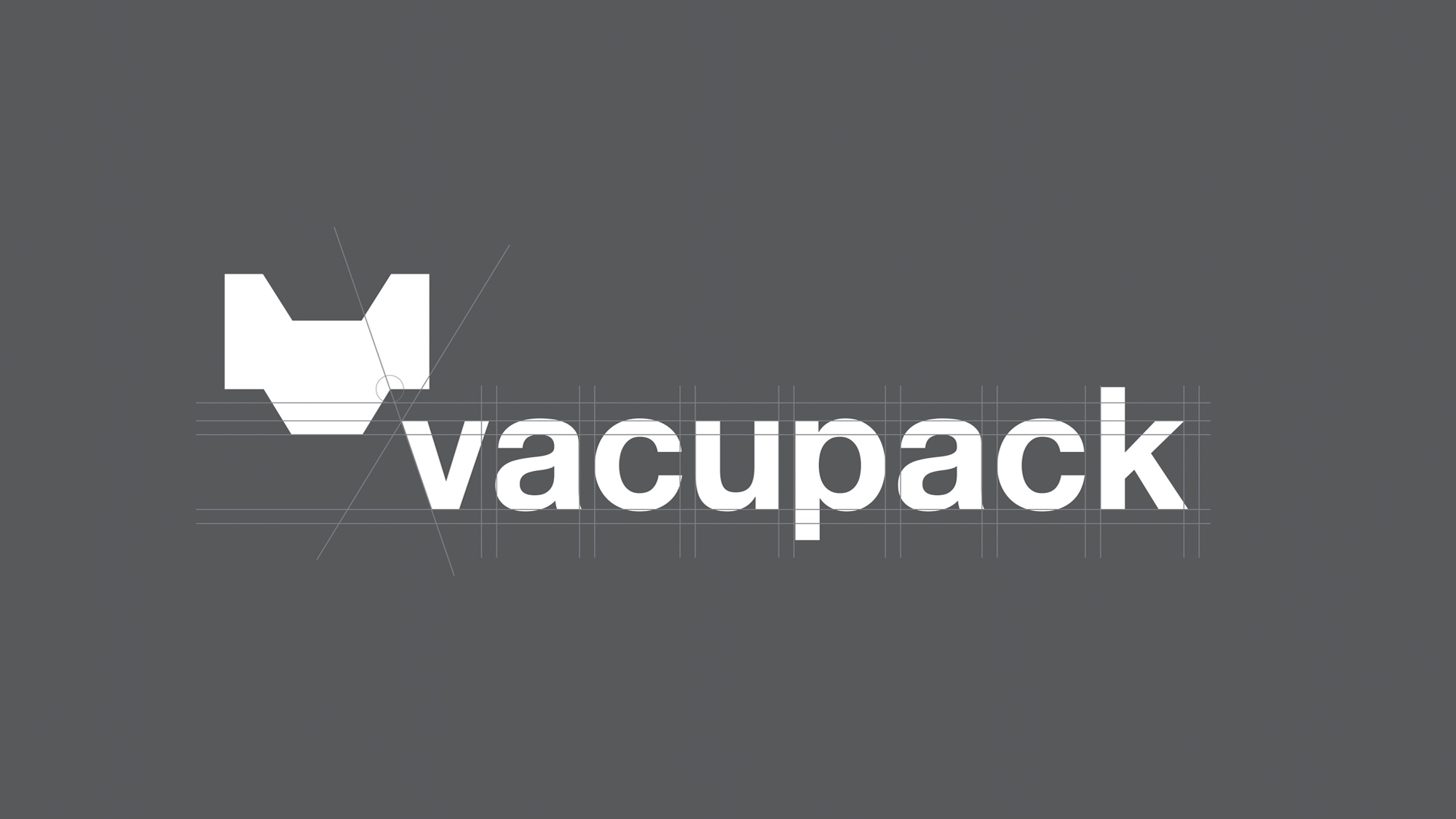 Vacupack logo with grey grids