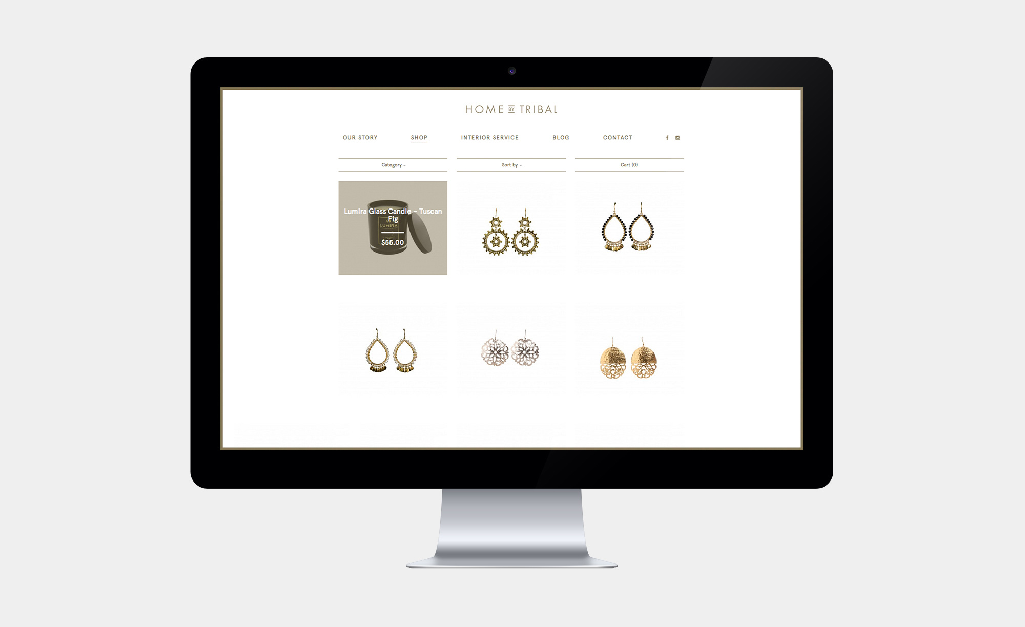 Product selection on the Home by Tribal eCommerce store