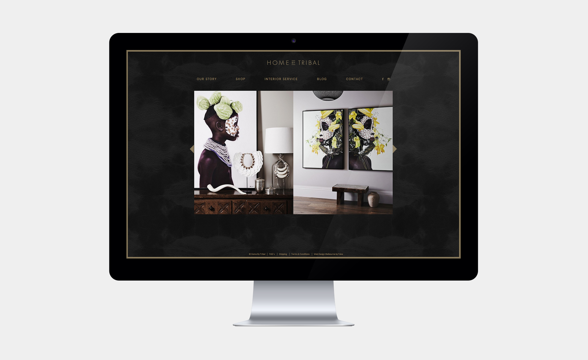 Imagery on the Home by Tribal website
