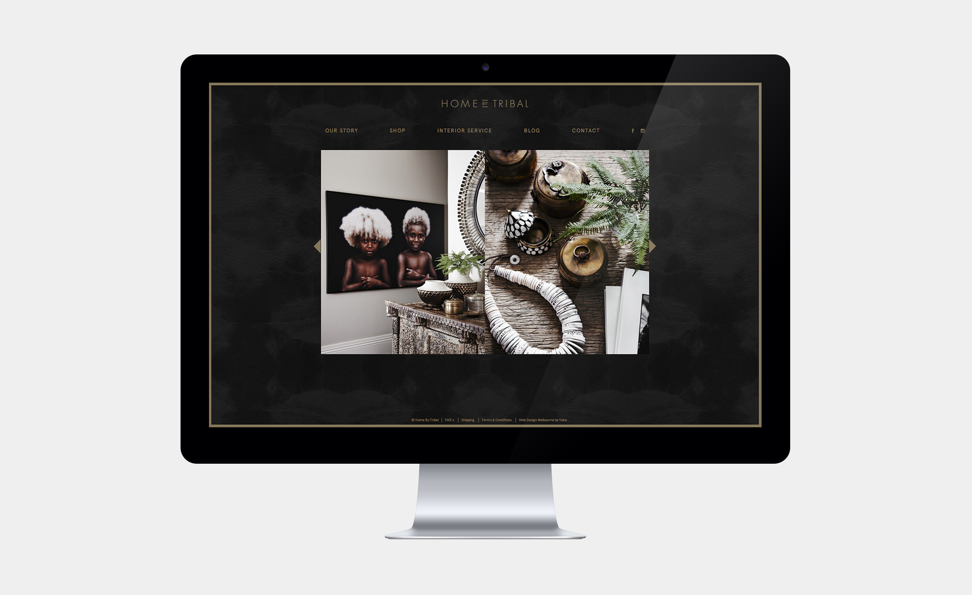 Image slider on the Home by Tribal website