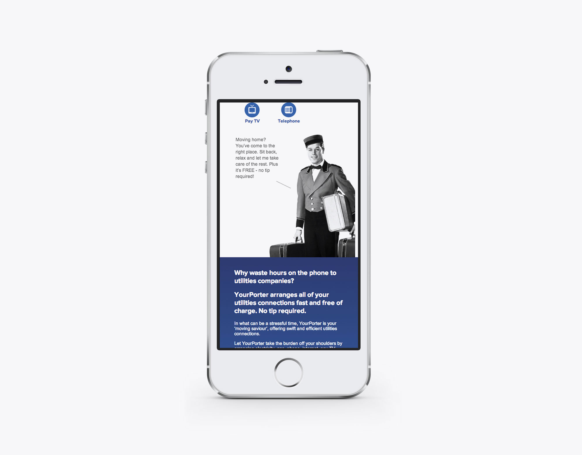 Your Porter mobile website