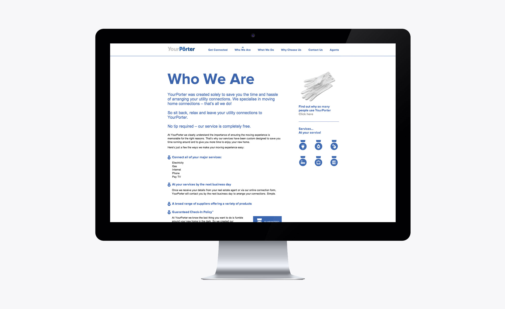 Company page on the Your Porter website