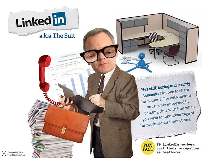 LinkedIn personified by Yoke