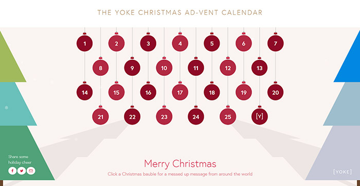 Christmas advent calendar by Yoke