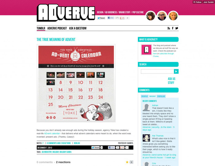 Advent Calendar Adverve article