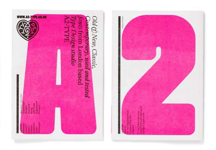 A2 typeface specimen by Henrik Kubel