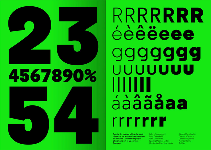 Regular Typeface by Henrik Kubel