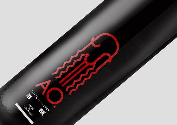 AO wine bottle design