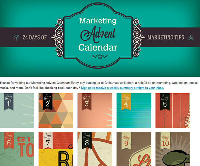Christmas Advent calendar - Marketing Advent Calendar