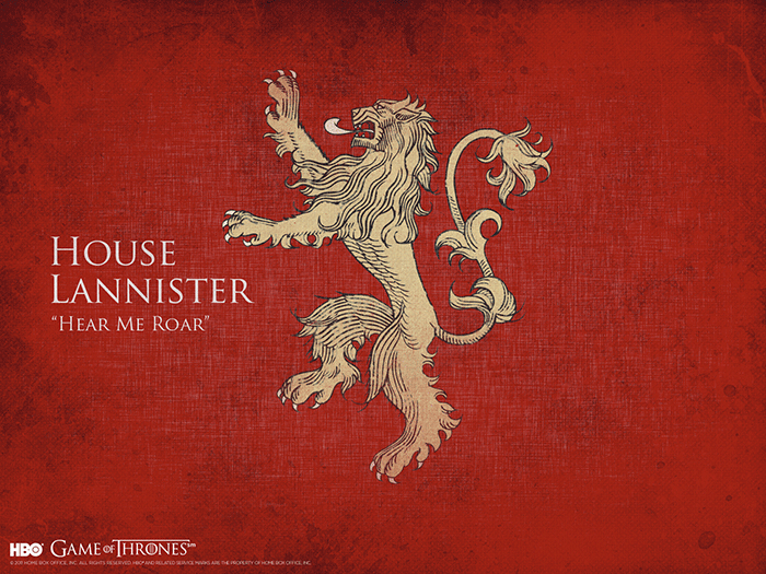 House Lannister sigil Game of Thrones