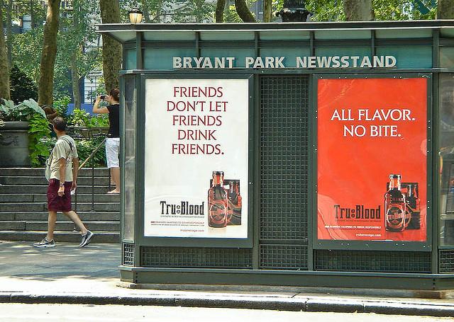 Tru Blood advertising aimed at vampires
