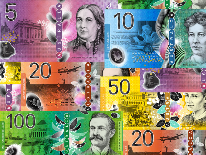 Proposed new Australian currency concept designs