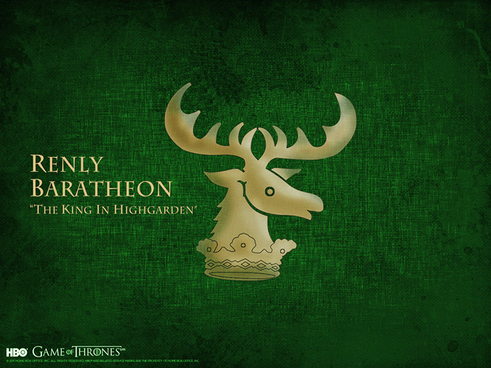 Renly Baratheon sigil Game of Thrones