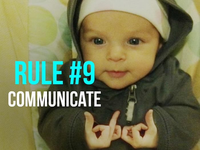 Rule 9 - Communicate - Social Media Rules by Yoke Melbourne