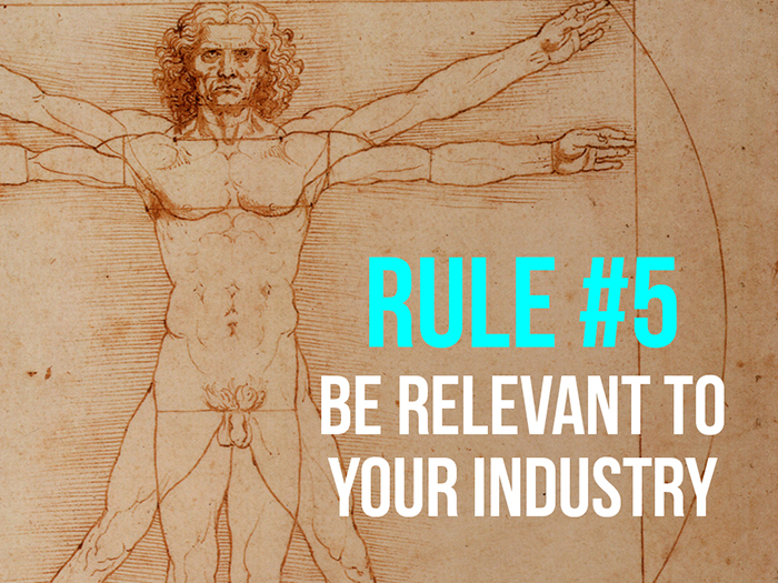 Rule 5 - Be Relevant To Your Industry - Social Media Rules by Yoke Melbourne
