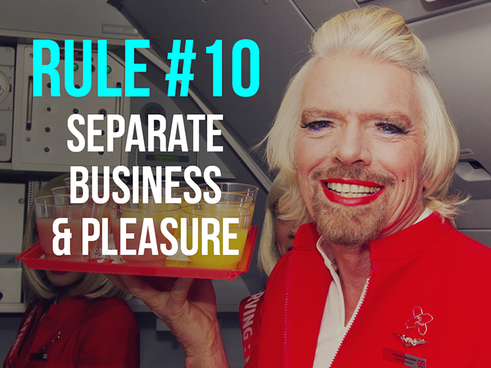 Rule 10 - Separate Business & Pleasure - Social Media Rules by Yoke Melbourne