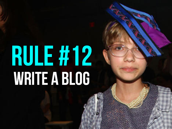 Rule 11 - Write a Blog - Social Media Rules by Yoke Melbourne