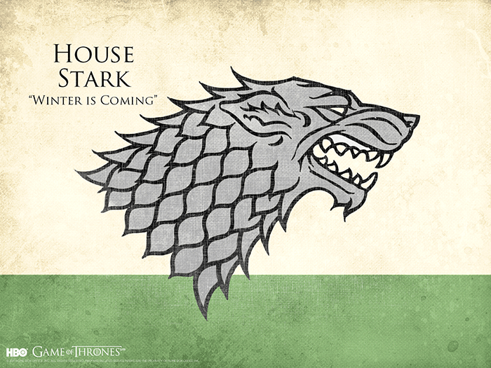 House Stark sigil Game of Thrones