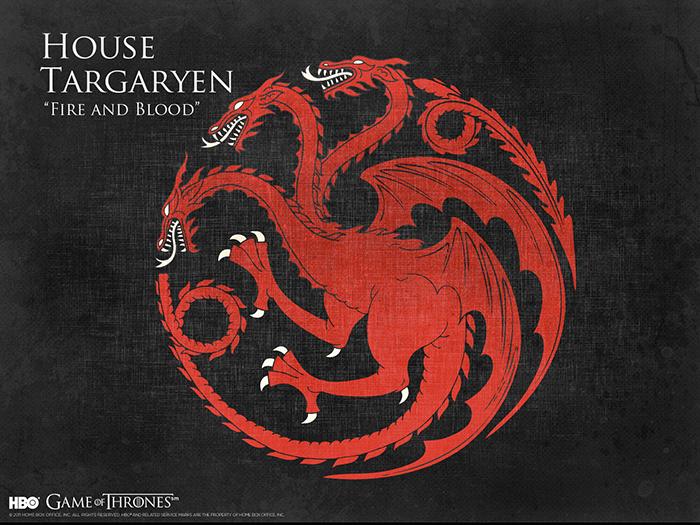 House Targaryen sigil Game of Thrones