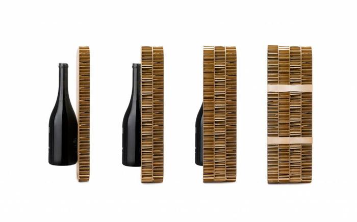 Wine bottle cardboard box packaging design