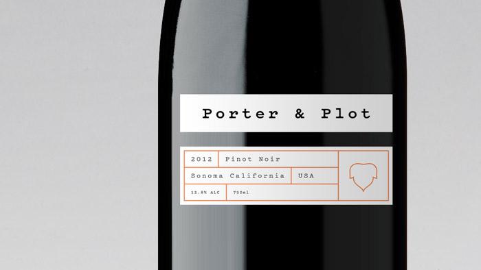 Close up of a wine bottle design