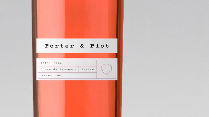 Rose wine bottle design