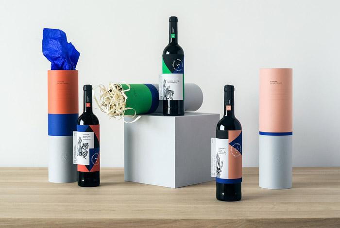 Wine bottle packaging design