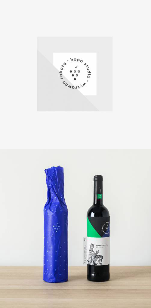 Wine bottle wrapping design