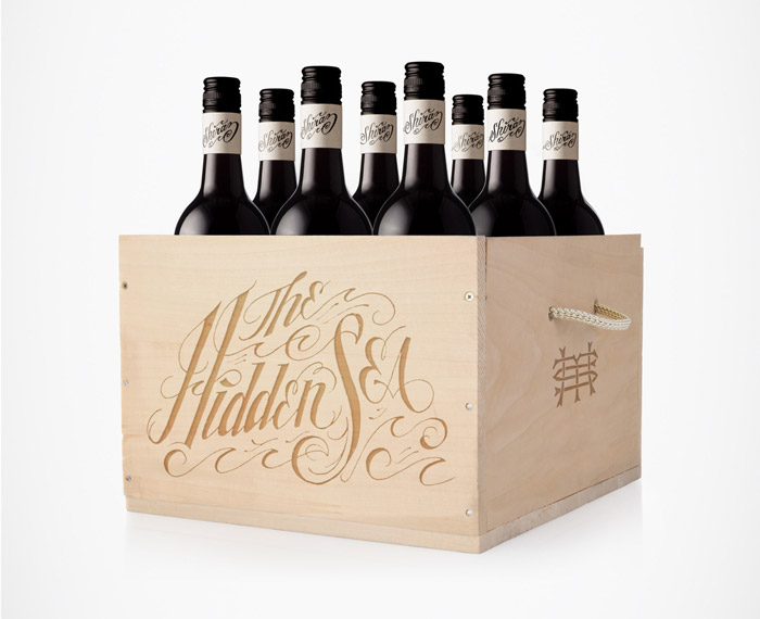 Typography on a wine box