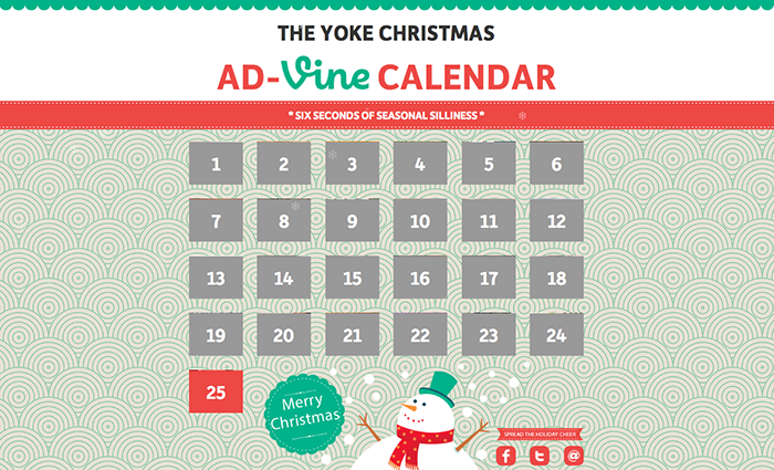 Yoke's Ad-Vine Advent Christmas Calendar 2013