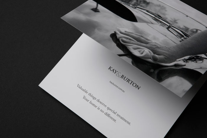 Kay & Burton marketing material by Yoke