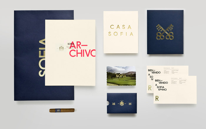 Sofia brand identity collateral by Anagrama