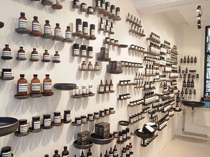 Aesop store photographed by  Houang Stephane