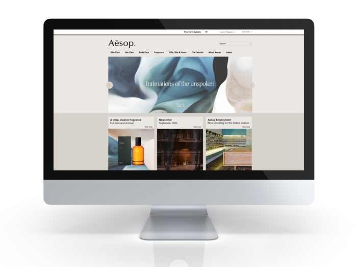 Aesop website