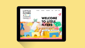 Website design for early education centre Little Flyers