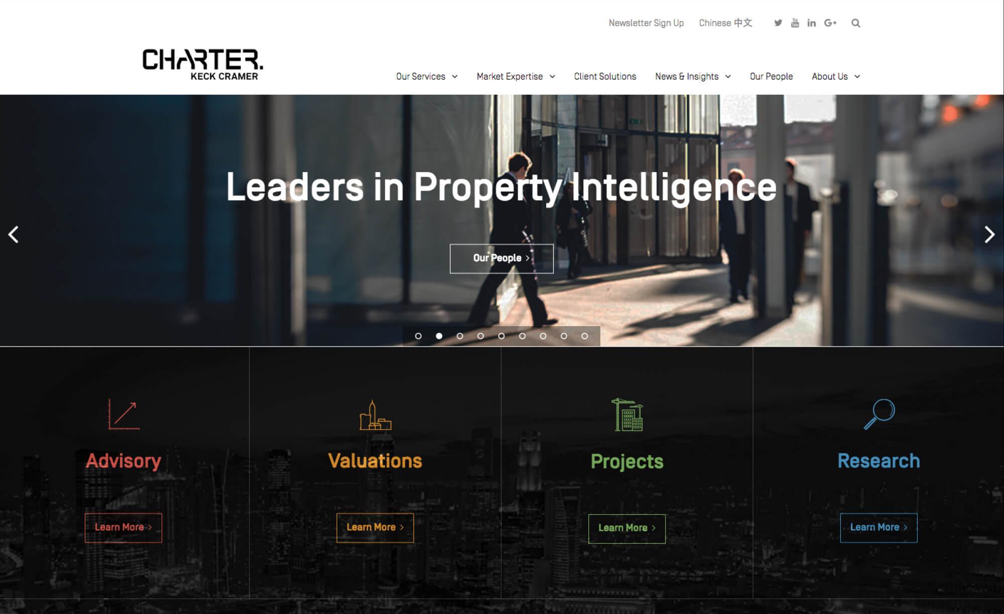Charter Keck Cramer - Website UX/UI
