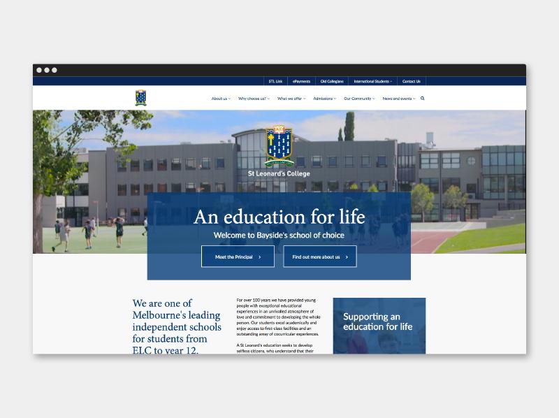 St Leonard's College - Website