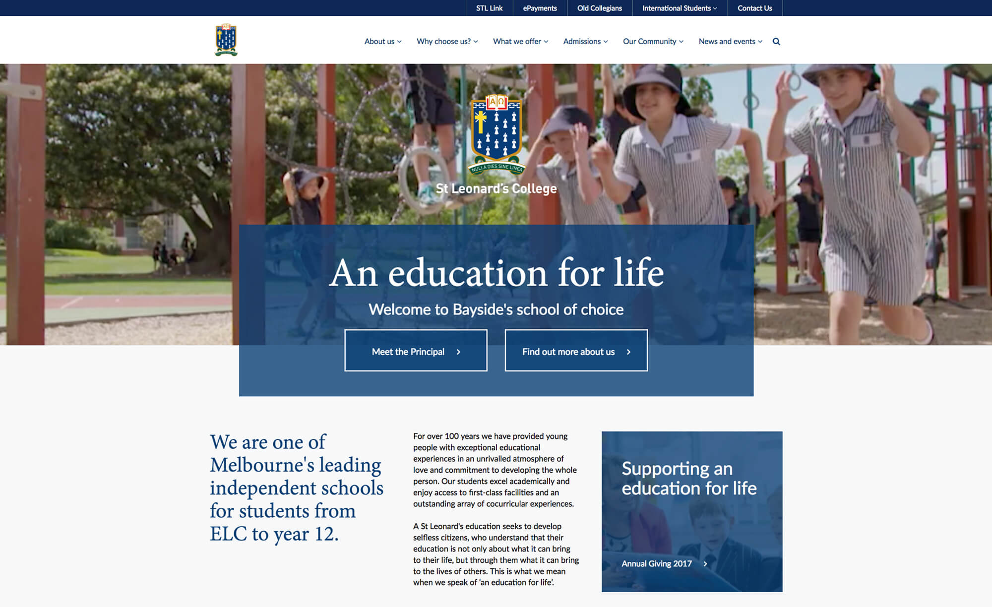 St Leonard's College - Website