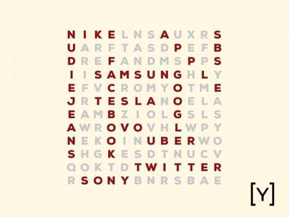 crossword of brand names