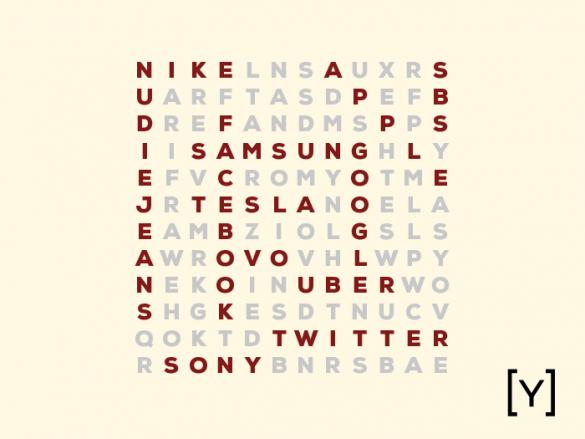 crossword of brand names